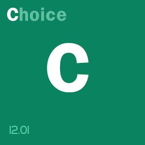 WBC content score badge: C-hoice